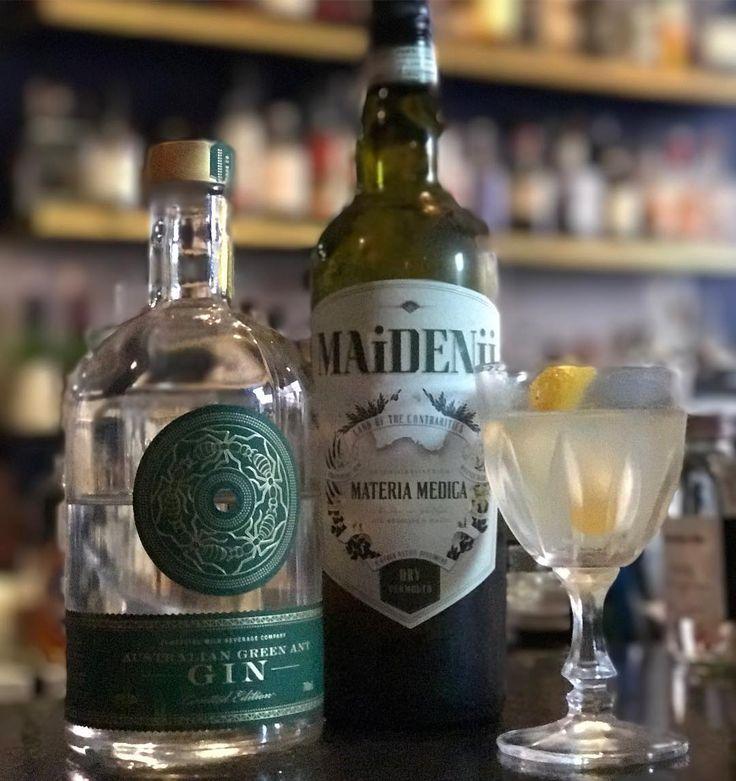 Now this is a cool #australiaian #martini #greenants and @maidenii thanks @badfrankiebar