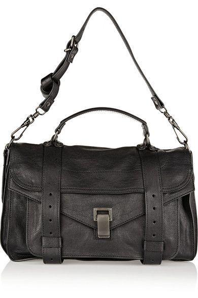 Proenza Schouler - The Ps1 Medium Leather Satchel - Black - one size