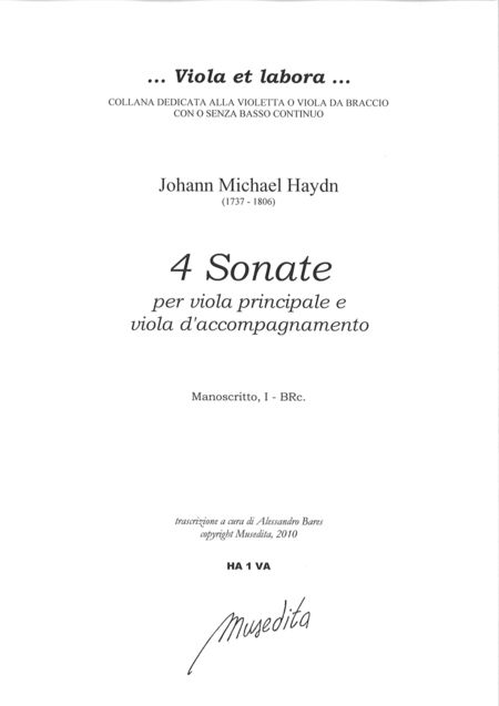 4 Sonate a viola principale e viola d'accompagnamento (Manuscript, I-BRc)