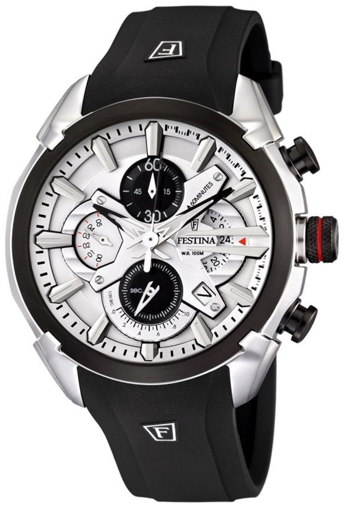 Festina Men's Watch with White Dial. I want desperately a black watch!!!
