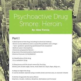 Psychoactive Drug Smore: Heroin