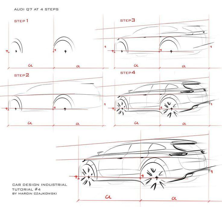 Audi Q7 sketch tutorial