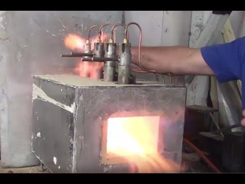 Propane forge/heat treat oven build for annealing hardening and tempering - YouTube