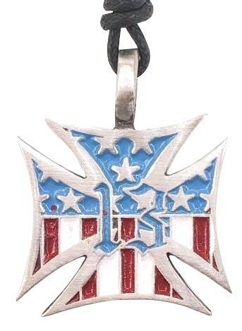 American 13 Colonies Flag Cross Pewter Pendant Necklace Dan Jewelers. $13.57. Hypoallergenic; Dan Jewelers has tens of thousands of positive feedbacks across the internet.; Satisfaction guaranteed.; Good value; Does not tarnish. Save 32%!
