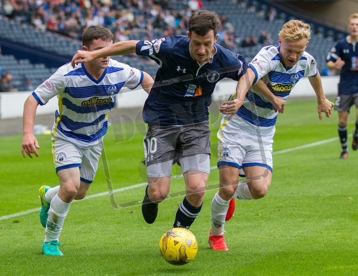 Queen's Park's David Galt in action during the IRN-BRU Cup game between Queen's Park and Morton.