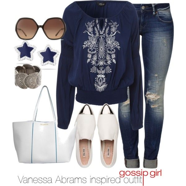 """Vanessa Abrams inspired outfit/Gossip Girl"" #MelBoteriStyled by tvdsarahmichele on @Polyvore"