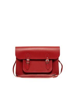 """Cambridge+Satchel+Company+Red+Leather+11""""+Satchel"""