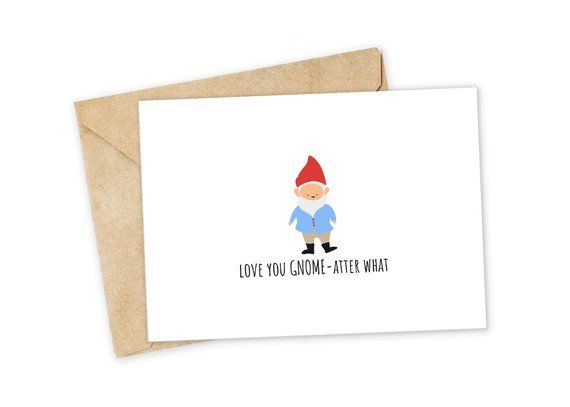 Love You This Mush Gnome Greeting Card