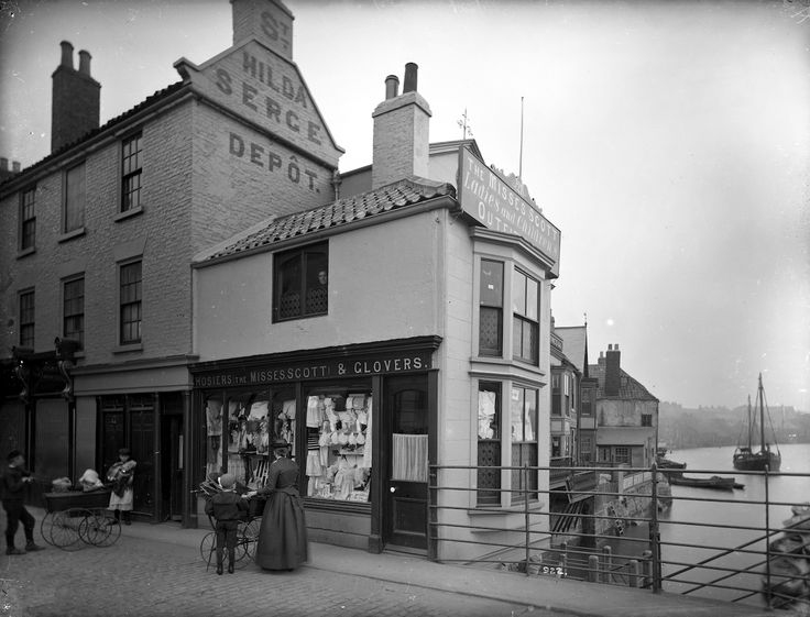 The Misses Scott's establishment was immortalised in this photograph by Frank Meadow Sutcliffe at Bridge End circa 1895: 'Hosiers The Misses Scott & Glovers' & ' The Misses Scott Ladies and Children's Outfitter'. (Courtesy of: Frank M. Sutcliffe, Whitby Museum, Photographic Collection.)
