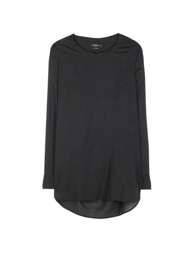 'Black wool and silk-blend top By Isabel Marant'
