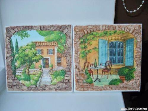 Серия панно «Итальянский дворик» http://dcpg.ru/mclasses/dvorik/ Click on photo to see more! Нажмите на фото чтобы увидеть больше! decoupage art craft handmade home decor DIY do it yourself tutorial canvas pencil acrylic paints napkin