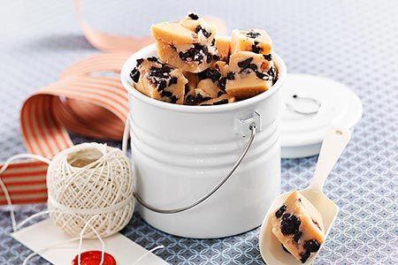 Vaniljfudge med blåbär