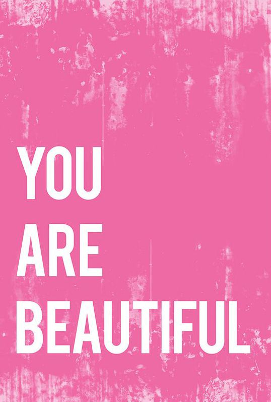 Pink 'You Are Beautiful' Print