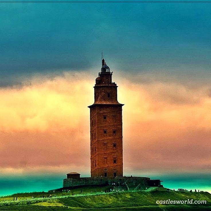Torre de Hercules, Spain A UNESCO World Heritage Site and the oldest Roman lighthouse in use with almost 1900 years of history…