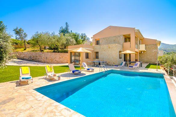 Villa Pietra Gialla, Avlaki, Corfu, Greece. Find more at www.villaplus.com