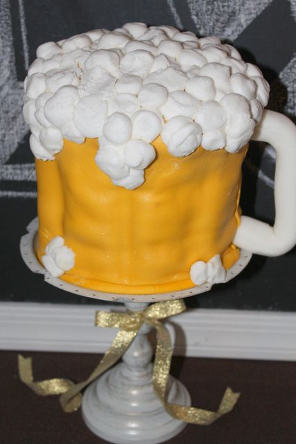 Check out this beer cake!  See more party ideas at CatchMyParty.com!
