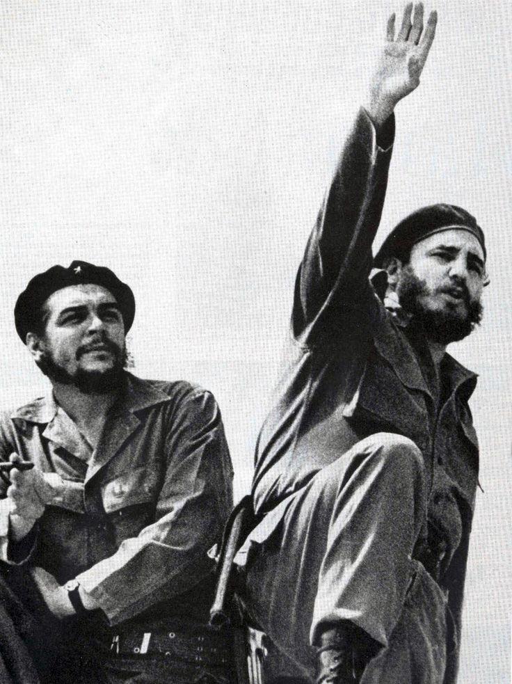 Fidel Castro and Che Guevara together