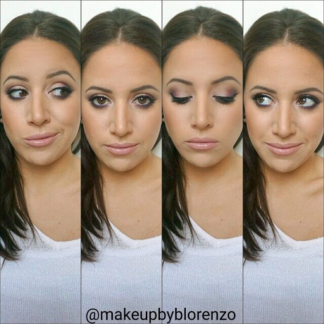 Everyday Makeup / Brunette . Nude Lips . Brown Eyes . Contour /