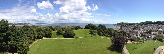 Panoramic views from Oystermouth Castle in Mumbles by home from home, via Flickr