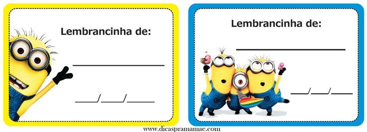 Kit personalizado dos Minions - Dicas pra Mamãe                                                                                                                                                     Mais