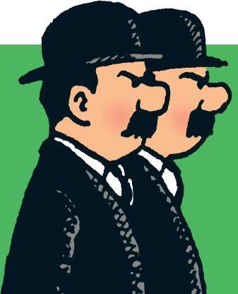 Dupond et Dupont (Thomson & Thompson) • Tintin, Herge j'aime