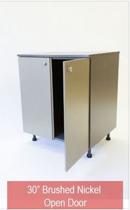 """Stayondeck offers a range of outdoor wall cabinets in 12"""", 18"""", 24"""" and 30"""" widths."""