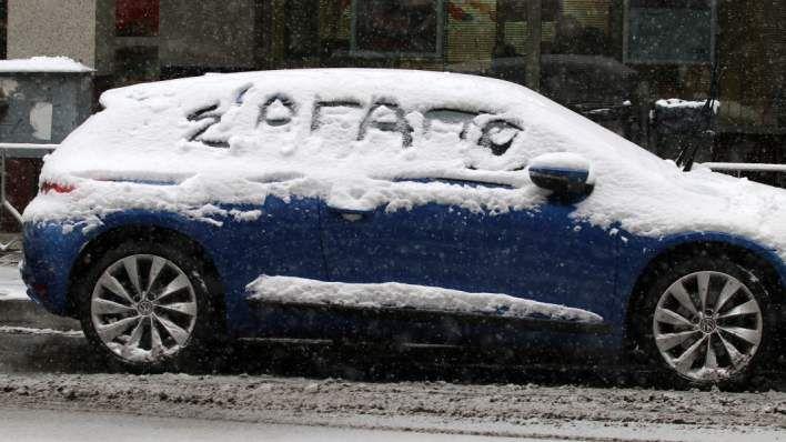 Θεσσαλονίκη: Συναισθήματα γραμμένα στο χιόνι -Φωτογραφία: ΜΟΤΙΟΝΤΕΑΜ/ΤΡΥΨΑΝΗ ΦΑΝΗ