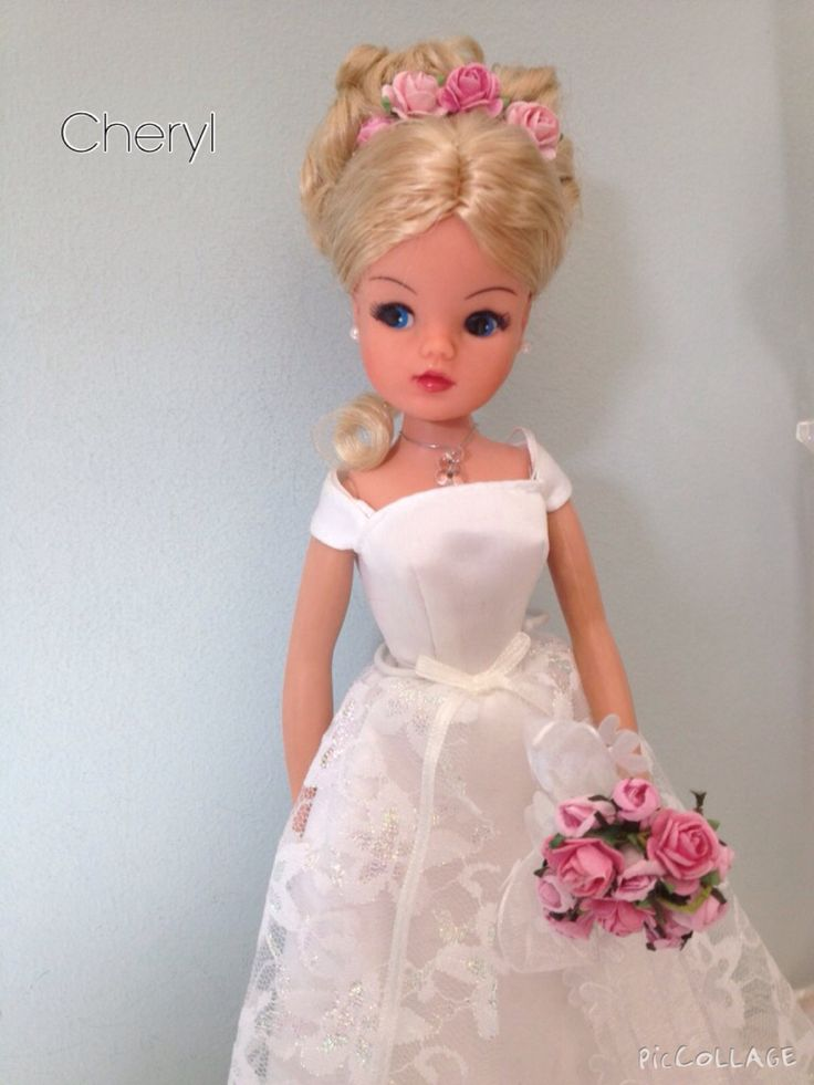 Sindy bride - Rerooted and repainted doll