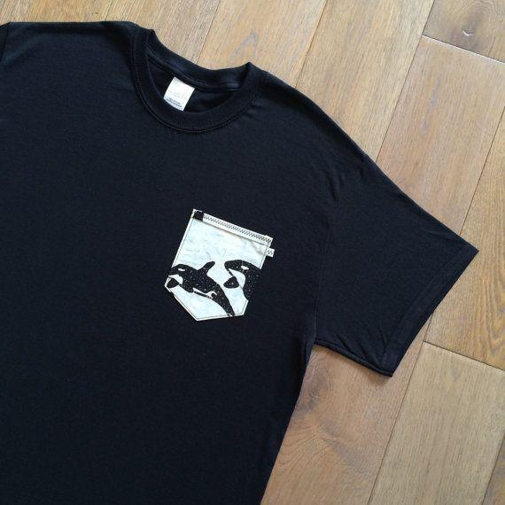 Menswear Orca Whale Pocket Tee / T-Shirt Dead Gent by DeadGentCo