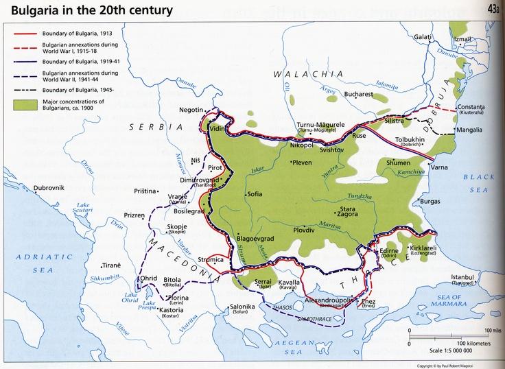 Bulgarian Historical Map