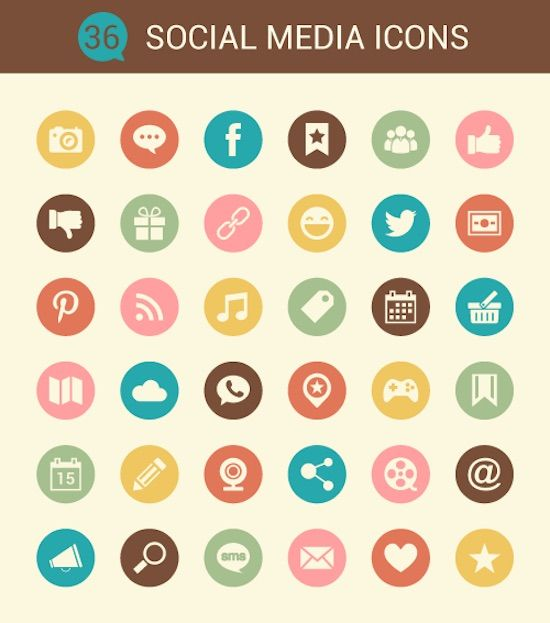 Exclusive Freebie : 36 Social Media Icons from DryIcons.com