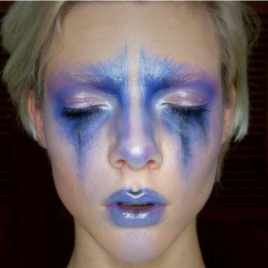 Blue n purple Avant Garde makeup creation