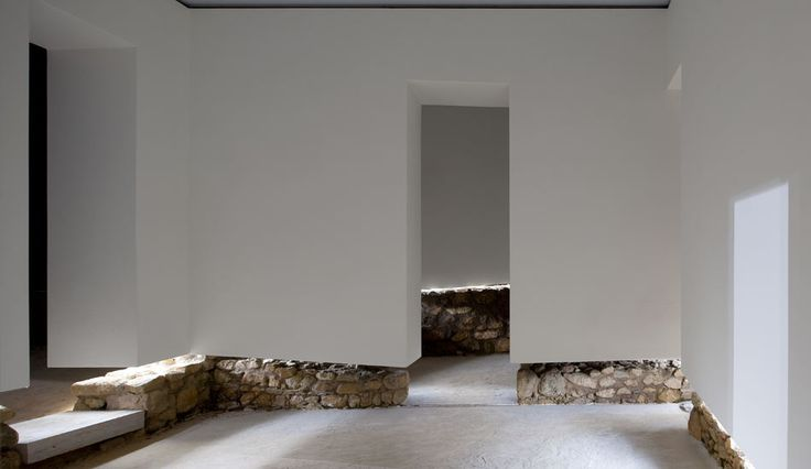 Interior view of the Archeological Museum of Praca Nova do Castelo de Sao Jorge by JLCG Arquitectos.