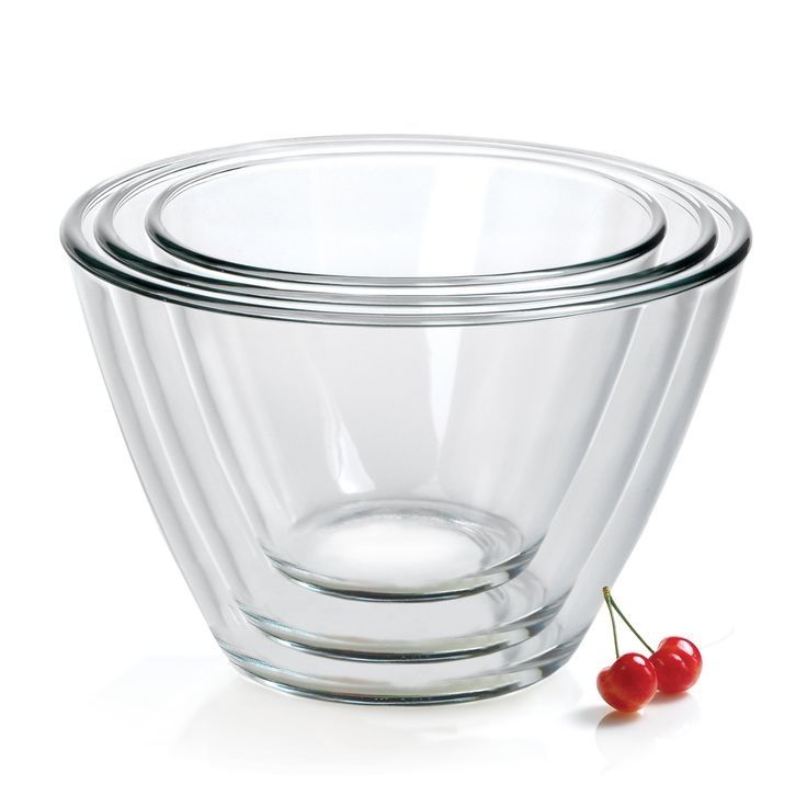 Amazon.com: Anchor Hocking 3-Piece Contemporary Serving Bowl Set: Glass Serving Bowl: Kitchen & Dining