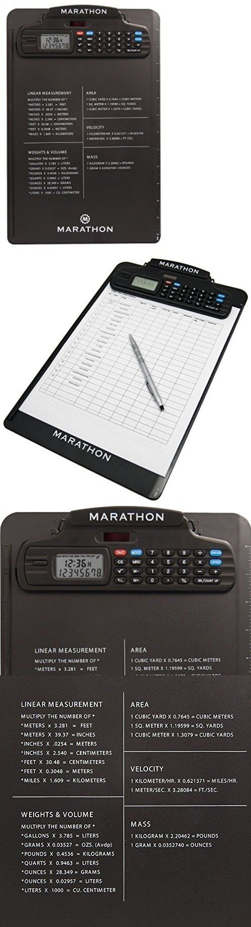 Stopwatches 166149: Marathon St083016bk Clipboard Stopwatch W Calculator, Clock, Stopwatch And -> BUY IT NOW ONLY: $51.25 on eBay!