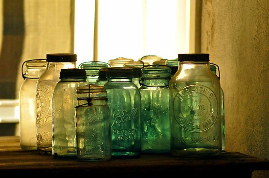 Old bottle photography