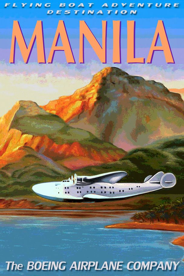 Details about MANILA Boeing 314 CLIPPER Flying Boat Sea ...