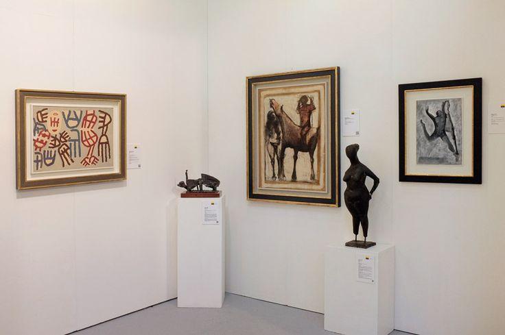 Padiglione 26, Stand B24, Studio Guastalla Arte Moderna e Contemporanea. Opere di Marino Marini e Giuseppe Capogrossi
