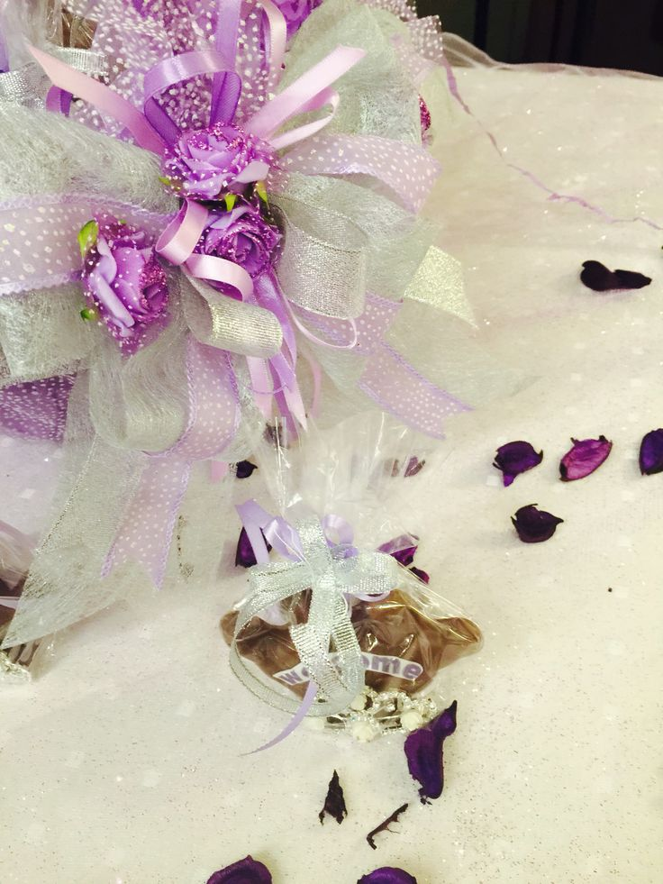 Welcome chocolate with tiaras for guests