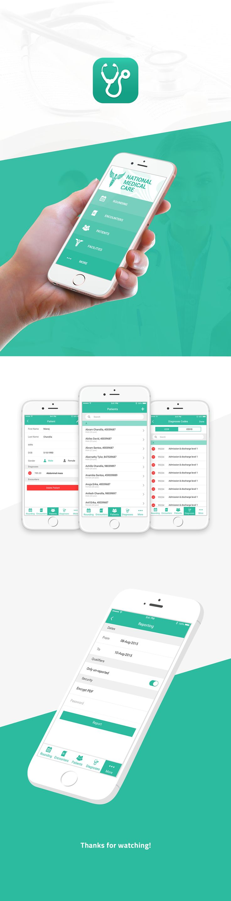 National Medical Care (NMC) iOS App on Behance