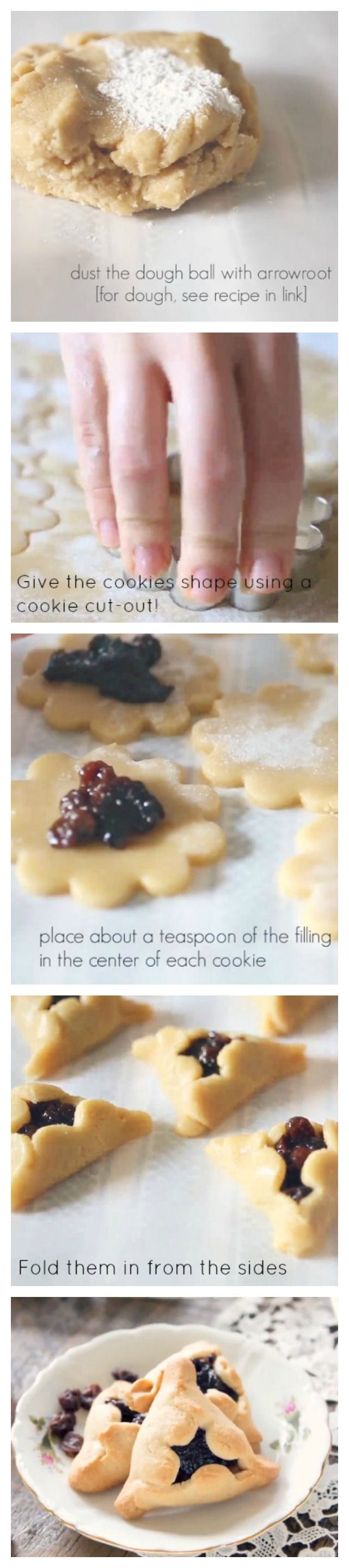 These tasty little Hamantaschen Cookies are a classic treat and are perfect for paleo & gluten free diet followers!