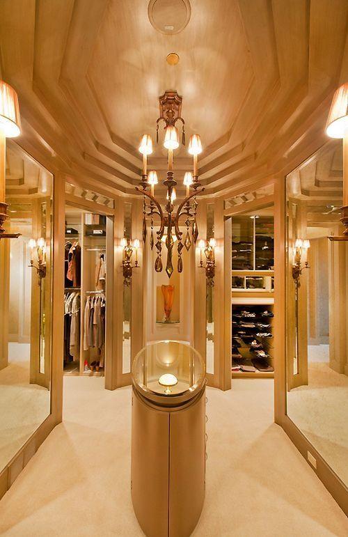 Luxury walk in closet walk in closets pinterest walk for Wardrobe interior designs for girls
