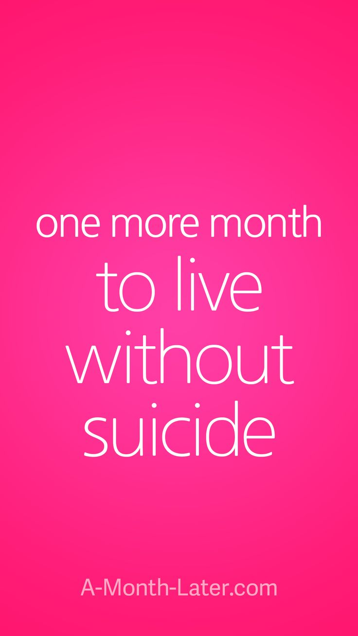 One more month to live without suicide iPhone wallpaper from http://a-month-later.com