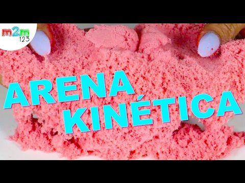 DIY ARENA KINETICA | KINETIC SAND | arena mágica - YouTube