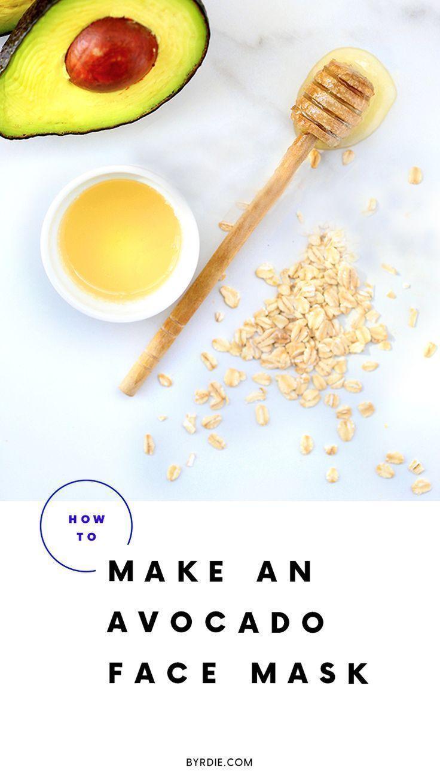 How to Make An Avocado Face Mask | Amazing DIY skin care recipes for avocado fac...  -  Hautpflege-Rezepte