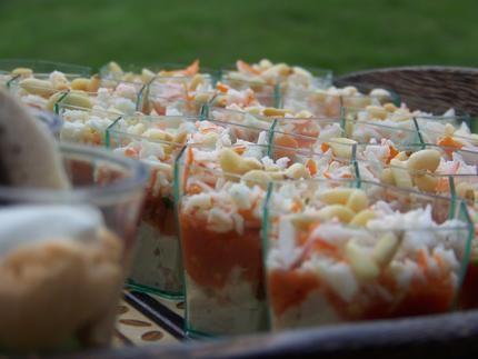 recette Verrine thon, tomates, surimi
