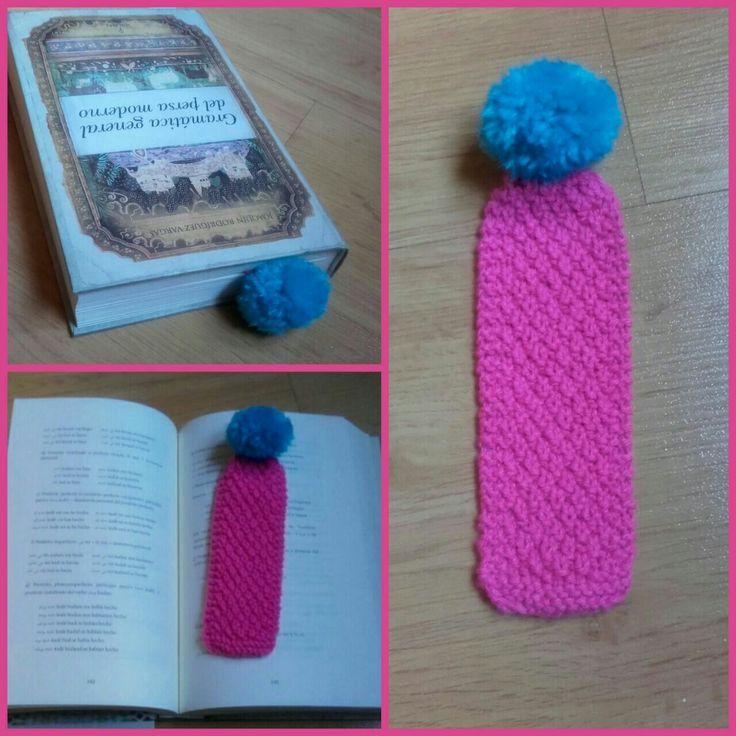 Marcapáginas // A knitted bookmark #tricot #punto #knitting #marcapaginas #bookmarks