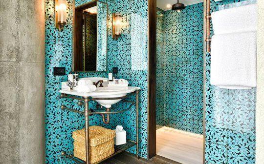 Beautiful middle-eastern style modern bathroom — Soho House Istanbul