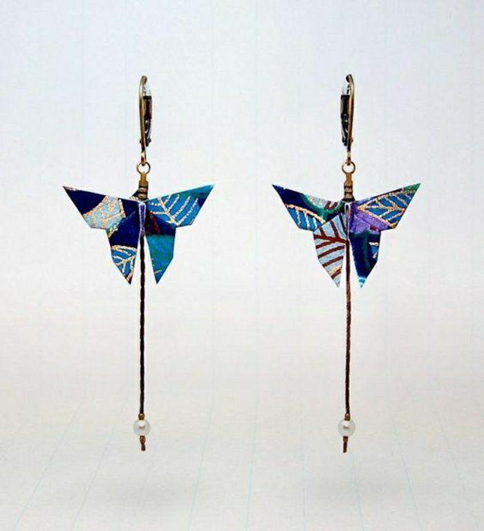 comment faire un origamie DIY idée, bijoux origami