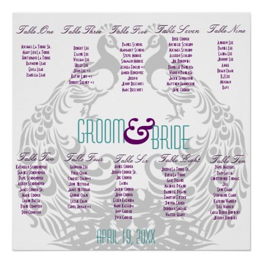 241 best Wedding Poster\/seating Chart images on Pinterest - wedding chart
